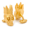 Gold King Skull Cufflinks-Cufflinks-Here Comes The Bling™