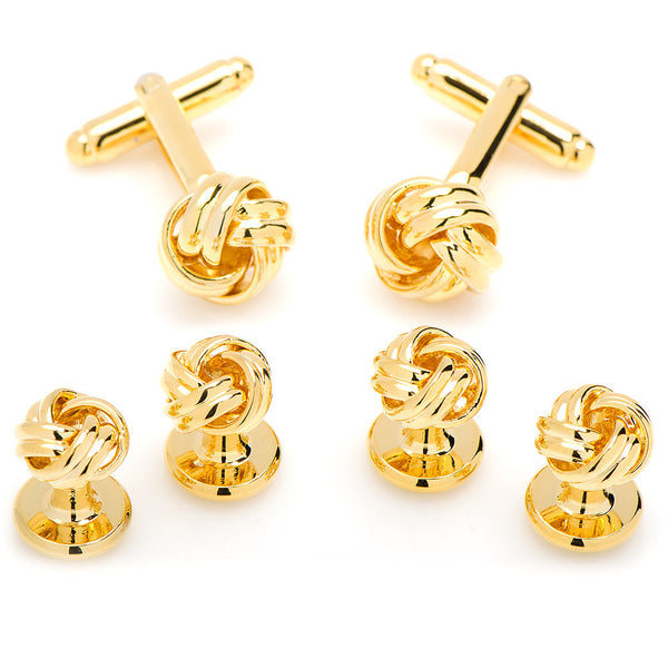 Gold Knot Stud Set-Tux Stud Set-Here Comes The Bling™