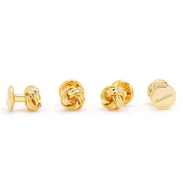 Gold Knot Studs-Tux Stud Set-Here Comes The Bling™
