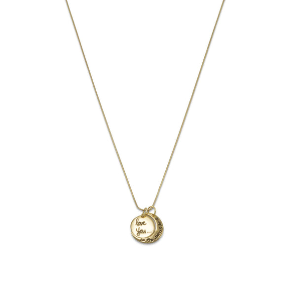 Gold Love You to the Moon and Back Charm Necklace-Necklaces-Here Comes The Bling™