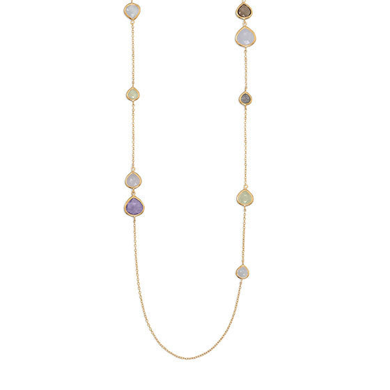 Gold Multistone Necklace-Necklaces-Here Comes The Bling™