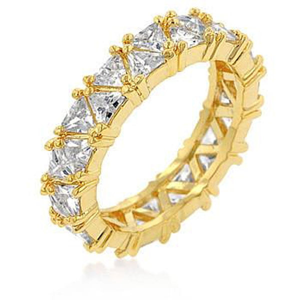 Golden Trillion Eternity Ring-Rings-Here Comes The Bling