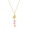 Goldtone Multi-Butterfly Pendant-Necklaces-Here Comes The Bling