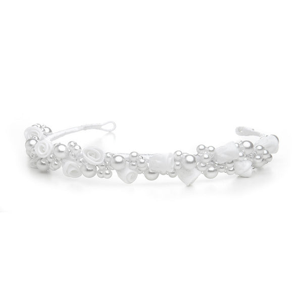 Gracie Headband ( Available in Ivory or White)-Girls-Headpieces-Here Comes The Bling™