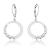 Graduated Cubic Zirconia Circle Earrings-Earrings-Here Comes The Bling