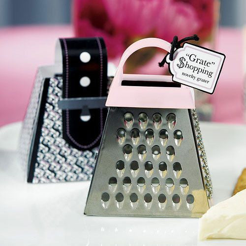 """Grate Shopping"" - Pink Mini Grater Favor-Favors-Kitchen Tools-Here Comes The Bling™"