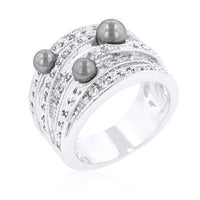 Gray Pearl Cocktail Ring-Rings-Here Comes The Bling™