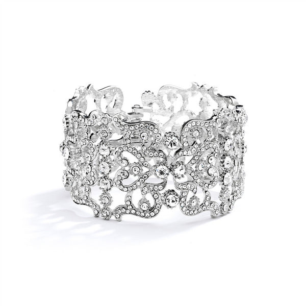 Grecian Style Couture Crystal Cuff Bracelet-Bracelets-Here Comes The Bling™