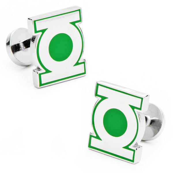 Green Lantern Symbol Cufflinks-Cufflinks-Here Comes The Bling™