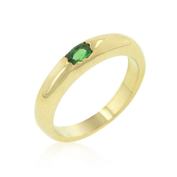 Green Oval Simple Ring-Rings-Here Comes The Bling™
