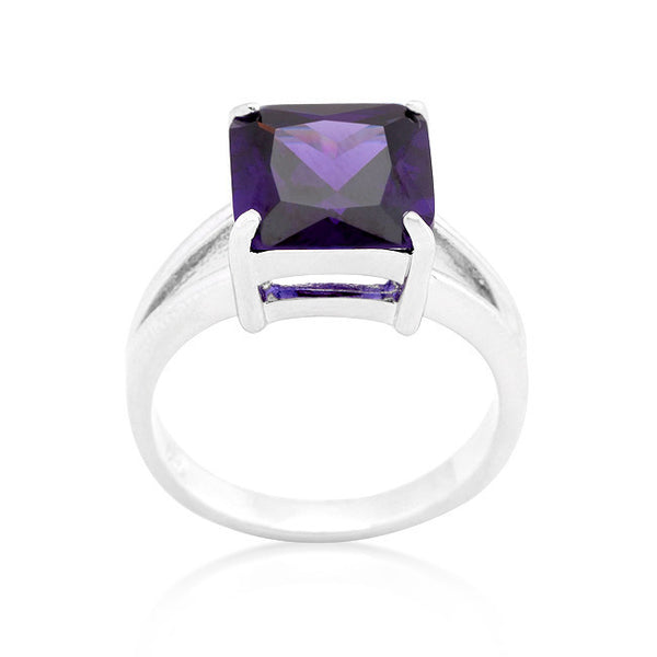 Gypsy Amethyst Purple CZ Ring-Rings-Here Comes The Bling™