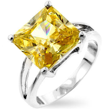 Gypsy Jonquil Yellow CZ Ring-Rings-Here Comes The Bling™