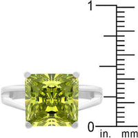 Gypsy Peridot Green CZ Ring-Rings-Here Comes The Bling™