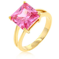 Gypsy Pink Ice CZ Gold Ring-Rings-Here Comes The Bling™