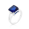 Gypsy Sapphire Blue CZ Ring-Rings-Here Comes The Bling™