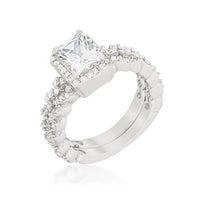 Halo Radiant Wedding Set-Rings-Here Comes The Bling™