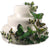 Hand Painted Butterfly Cake Decor Set in Garden Greens