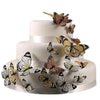 Hand Painted Butterfly Cake Decor Set in Nearly Neutrals-Cake Toppers-Here Comes The Bling™