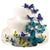 Hand Painted Butterfly Cake Decor Set in Oasis Blues