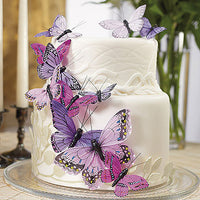 Hand Painted Butterfly Cake Decor Set in Passion Purples-Cake Toppers-Here Comes The Bling™