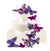 Hand Painted Butterfly Cake Decor Set in Passion Purples