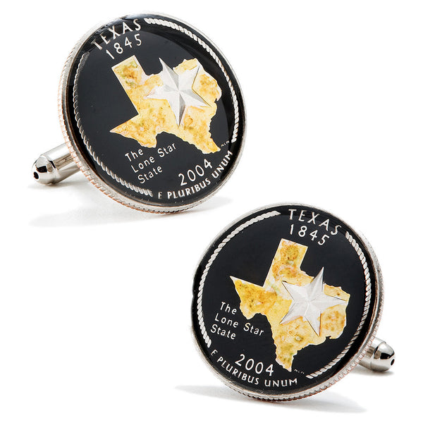 Hand Painted Texas State Quarter Cufflinks-Cufflinks-Here Comes The Bling™