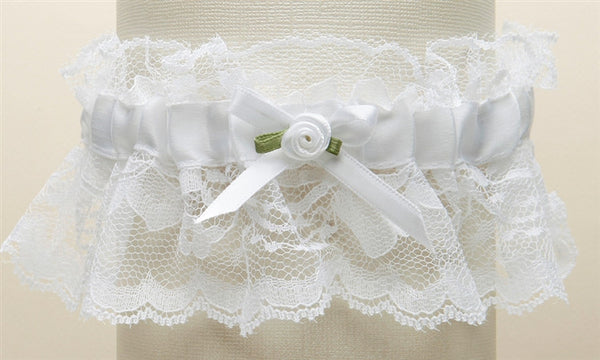 Hand-Sewn Vintage Lace Wedding Garters - Ivory-Garters-Here Comes The Bling™