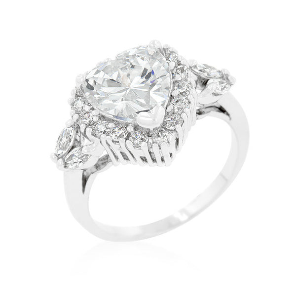 Heart Halo Engagement Ring-Rings-Here Comes The Bling™