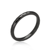 Hematite Ceramic Band Ring-Rings-Here Comes The Bling™