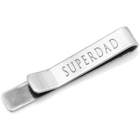 "Hidden Message ""Super Dad""Tie Bar-Tie Bar/Tie Clip-Here Comes The Bling™"