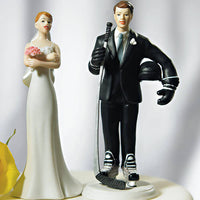 """Hockey Player"" Groom Wedding Cake Topper-Cake Toppers-Here Comes The Bling™"