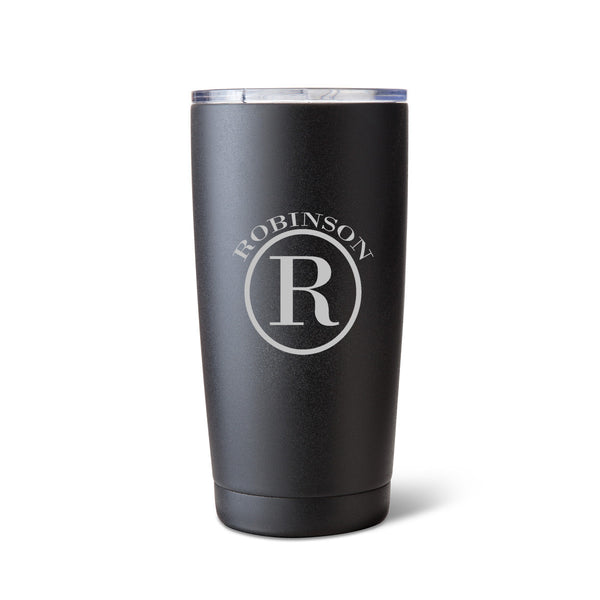Húsavík 20 oz. Circle Monogram Tumbler-Travel Mugs-Here Comes The Bling™