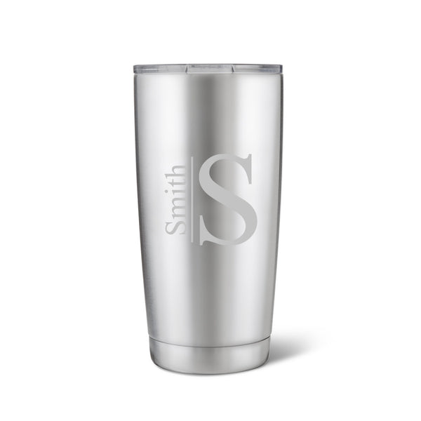 Húsavík 20 oz. Modern Monogram Tumbler-Travel Mugs-Here Comes The Bling™