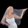 Couture Swarovski Rhinestone Edge Circular Veil (Available in 2 Lengths)