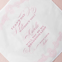 """I Can't Say I Do Without You"" Bridesmaid-Proposal Handkerchief-Hankie-Here Comes The Bling™"