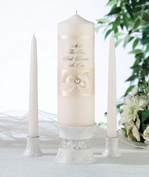 Ivory Pearl Candle Set-Unity Candle-Here Comes The Bling™