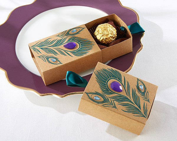 Jeweled Peacock Favor Boxes (Set of 48)-Favors-Boxes-Here Comes The Bling™