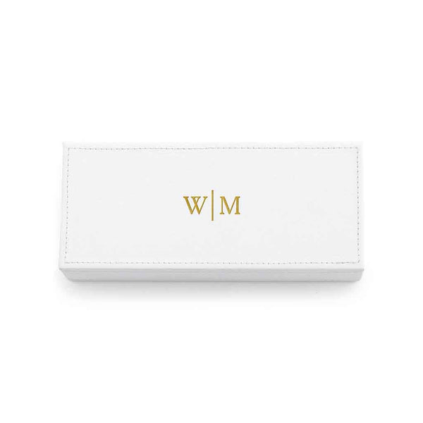 Jewelry Box with Line Monogram Embossed-Jewelry Box-Here Comes The Bling™