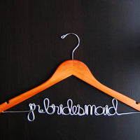 Jr. Bridesmaid Script Hanger (Available in 5 Colors)-Hangers-Here Comes The Bling™