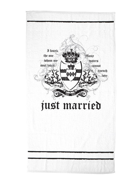 Just Married Beach Towel-Towels-Here Comes The Bling™