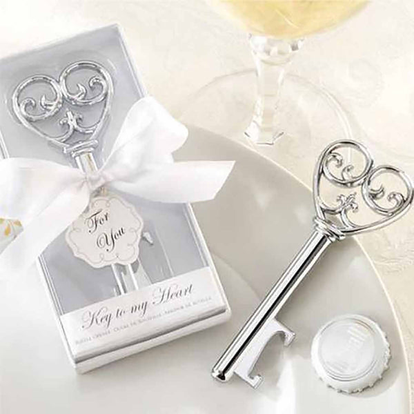 Key to My Heart Bottle Opener (Set of 6)-Favors-Bottle Opener-Here Comes The Bling™