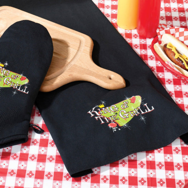 King of The Grill Towel-Grill-Here Comes The Bling™