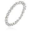 Lace Eternity Band in Silver-Rings-Here Comes The Bling™