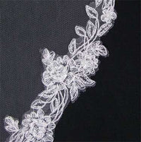 Lace Trimmed Mantilla Bridal Veil-Veils-Here Comes The Bling™