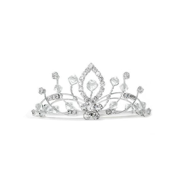 Lacy Flowergirl Crystal Spray Tiara Comb-Girls-Headpieces-Here Comes The Bling™
