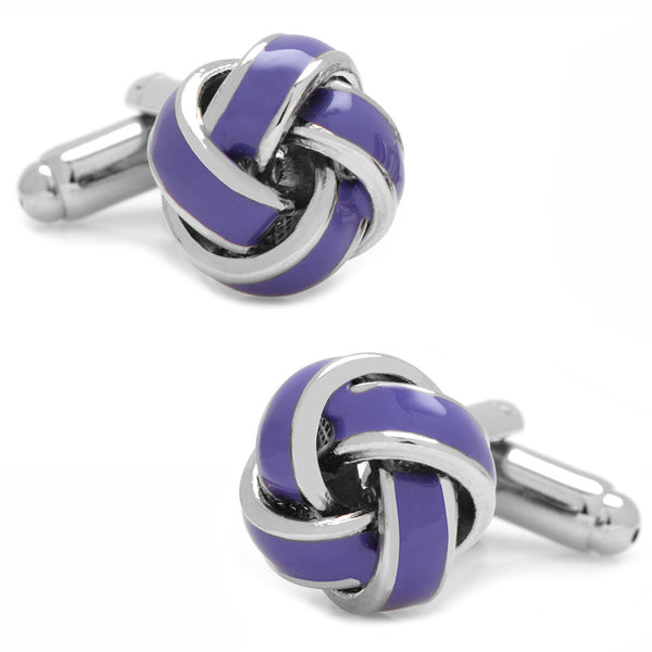 Lavender Knot Cufflinks-Cufflinks-Here Comes The Bling™