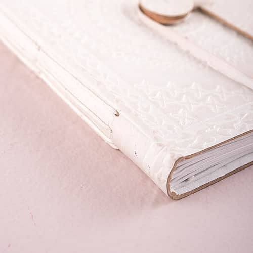 Leather Bound Journal Bohemian Style Guest Book-Guest Books-Here Comes The Bling™