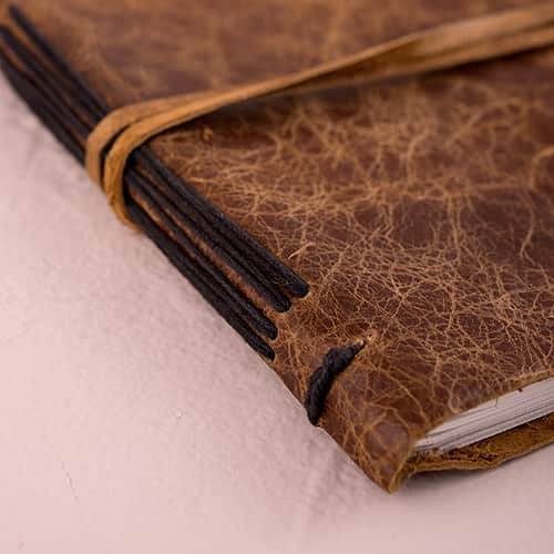 Leather Bound Journal Rustic Style Guest Book-Guest Books-Here Comes The Bling™
