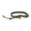 Leather Fashion Bracelet with Blue Agate-Bracelets-Here Comes The Bling™