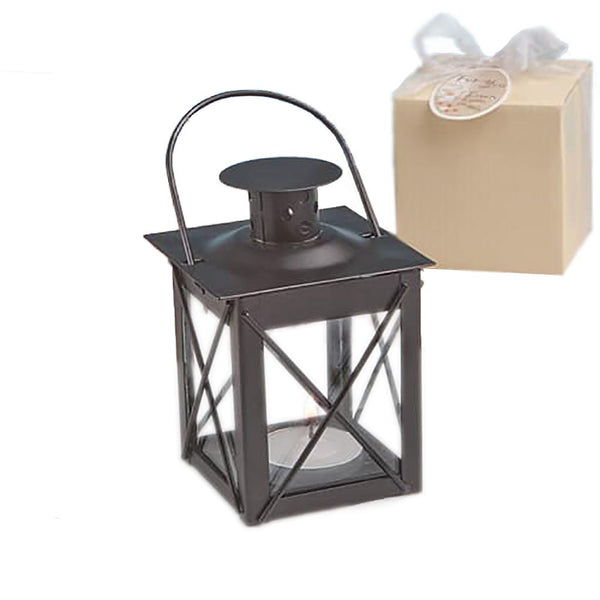 """Let Love Light The Way"" Lantern in Black-Favors-Candle Holders-Here Comes The Bling™"